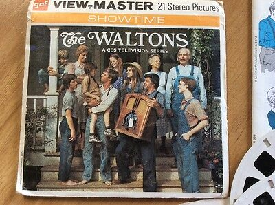 "ViewMaster ""The Waltons "" TV  Show 3 Reel Set *RARE*"
