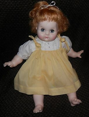 "1965 Madame Alexander ""puddin"" Doll In Original Outfit - Cries, Sleep Eyes"