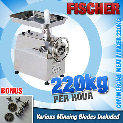 """""""brand New"""" S/steel Commercial Electric Benchtop Meat Mincer 220Kg/hr - Mc22"""