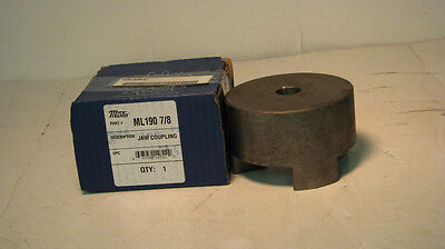 "Martin ML190 7/8 Universal Series Jaw Coupling, Sintered Steel, 0.875"" Bore"