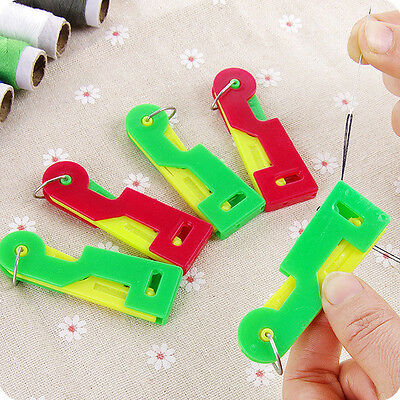 3Pcs Random Color Automatic Threader Elderly Use Easily Sewing Needle Devices
