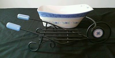 Pfaltzgraff RARE Summer Breeze Ceramic Wheelbarrow Serving Bowl With Box