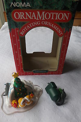Noma Ornamotion Rotating Christmas Holiday Ornament COZY CHRISTMAS Igloo