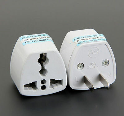 UK/US/EU Universal to AU AC Power Plug Adapter Travel 2 pin Converter NEW