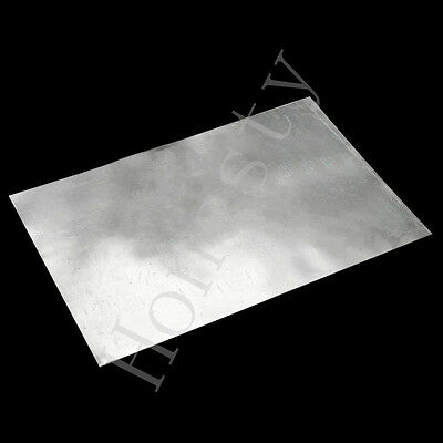 1/3/6X Zinc Zn Sheet Plate 150×100×0.3/150×100×0.2/500×100×0.2mm for Science lab
