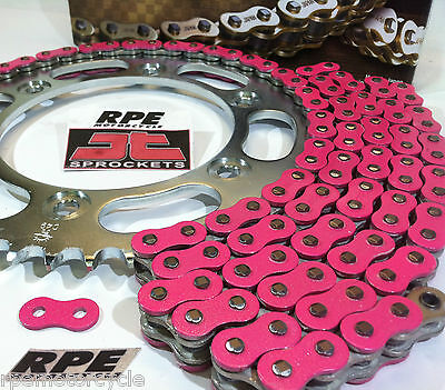 Pink 2006-16 Yamaha R6 EK Chain and Sprockets Kit 15/46t Quick Acceleration