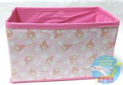 SANRIO My Melody KAWAII Folding Simple Easy Light Storage Box F/S Limited JAPAN