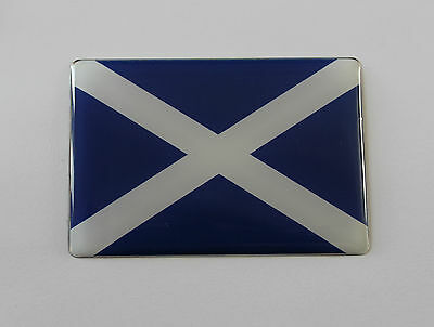 80mm SCOTLAND FLAG Sticker/Decal - WITH HIGH GLOSS DOMED GEL FINISH