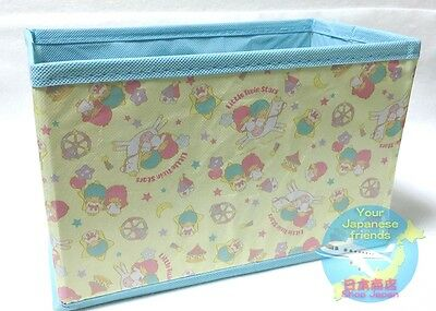 SANRIO Little Twin Stars KAWAII Folding Simple Easy Light Storage Box from JAPAN