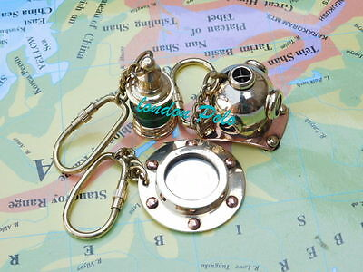 Unique Edition Solid Brass Key Chain Keychain ring pendant Punk Biker gift combo