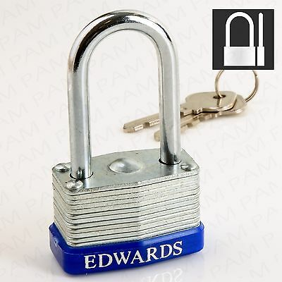 40mm Heavy Duty Long Shackle Padlock-LAMINATED- Extra Strong Safety Outdoor Lock