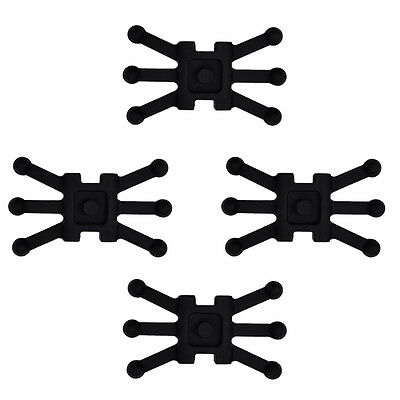 4 pcs Bow Silencer Shock Absorber Black for Compound Bows Archery Outdoor Sport