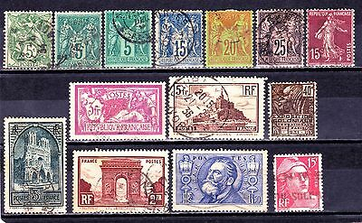 FRANCE & COLONIES  1877-1946 Collection mint/used.