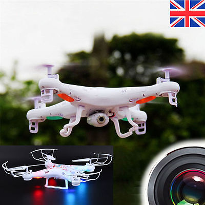 X5C-1 2.4Ghz 360° Eversion Drone White Gyro RC Quadcopter with HD Camera