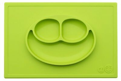 ezpz Happy Mat - One-piece silicone placemat + plate Lime