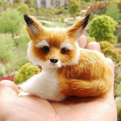 Fox Sitting Fengshui Learning Resources Miniature Plush Stuffed Animal Toy DF