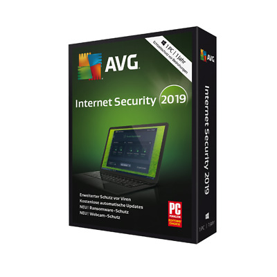 AVG Internet Security 2019 1 PC 2 Jahre