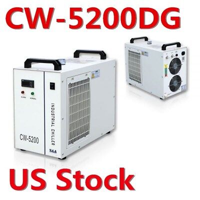 S&A CW-5200DG Industrial Water Chiller for One 130W or 150W CO2 Glass Laser Tube