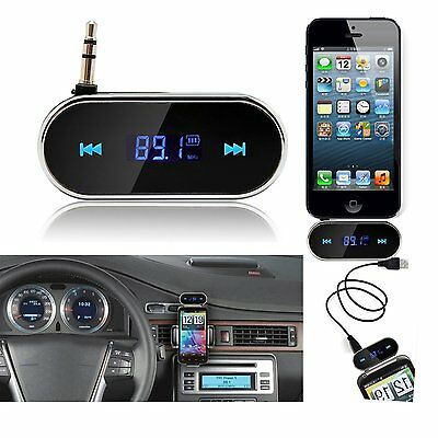 3.5mm Bluetooth Car Kit MP3 Player Audio LCD FM Transmitter For iPhone Samsung