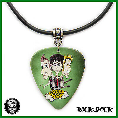 GREEN DAY CARICATURE Funny Guitar Pick Necklace Pendant Plectrum Punk Rock Art