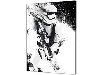 Star Wars Episode VII - Stormtrooper Paint - Canvas Print Picture Wall Art - 60