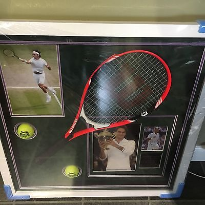 Roger Federer Wimbledon Picture Box Montage With Signature And Certification