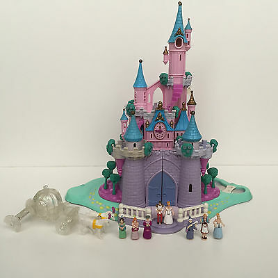 POLLY POCKET Bluebird 1995 LIGHT UP Cinderella Enchanted Castle **COMPLETE**