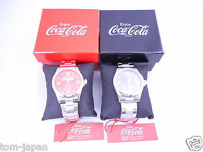 Set of 2 COCA COLA Watch Coke Watch Red Black Japan Limited from Japan F/S