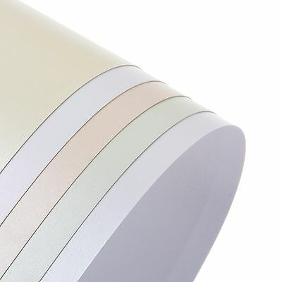 A4 Precious Pearl & Shimmer Pearlescent Paper, Card, choose colour, double sided