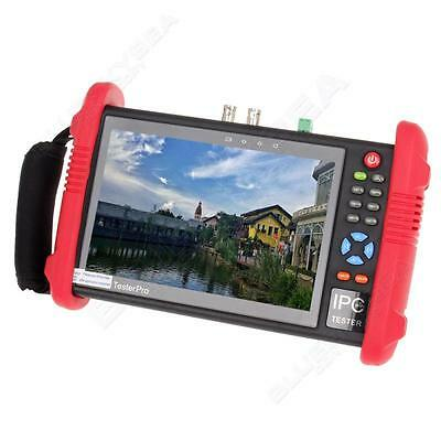 """IPC-9800 7""""Touch Screen LCD POE ONVIF IP&Analogy CCTV Camera Test Built-in WIFI"""