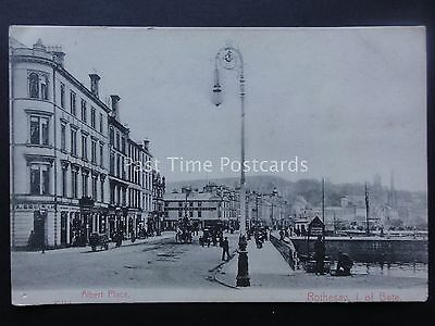 Scotland Isle of Bute ROTHESAY Albert Place THE ROYAL HOTEL c1903 Postcard