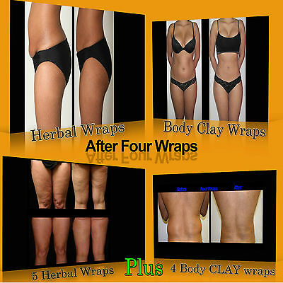 MYMI APPLICATOR it works for ULTIMATE inch loss 5 HERBAL WRAPS+2 BODY CLAY WRAP
