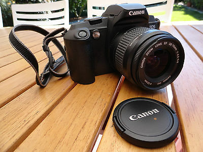 Canon Camera Film Professional Mode Eos 5000 38-76Mm W/ Zoom & Lid Working