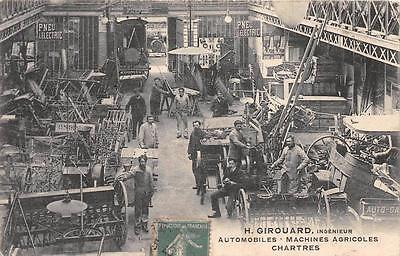 CPA 28 CHARTRES H.GIROUARD INGENIEUR AUTOMOBILES AGRICOLES MAGASIN INTERIEUR (cl