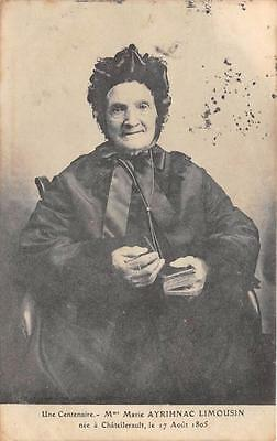 CPA 86 CHATELLERAULT UNE CENTENAIRE Mme MARIE AYRIHNAC LIMOUSIN (personnage nomm