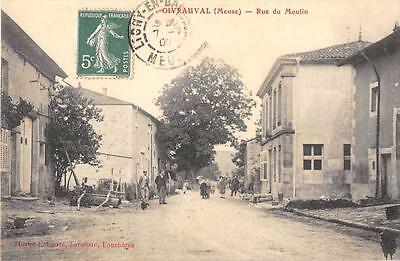 Cpa 55 Givrauval Rue Du Moulin