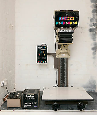 Devere 504 bench enlarger with a colour Dichromat head 5x4 and 120mm