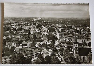 1950s B+W Unposted RPPC View from Sparrenberg Castle Bielefeld Germany