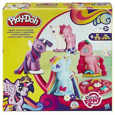Play-Doh My Little Pony Make & Style Ponies Play Set With 9 Cans Of Dough!