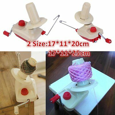 2 Size Portable Family Use Yarn Fiber String Ball Wool Winder Hand Operated GT