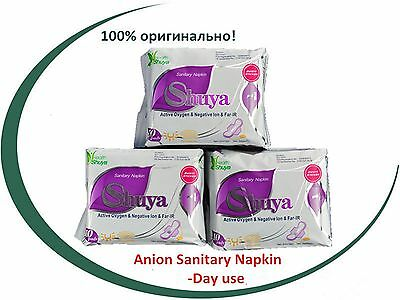 3 Bags Shuya Active oxygen Anion Sanitary Napkins Day Use Breathable 10Piece/Bag
