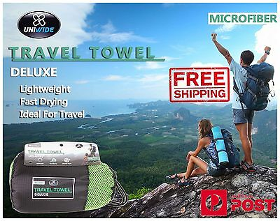 MICROFIBRE TRAVEL TOWEL Bath Gym Sport Footy Travel Camping Swimming Beach