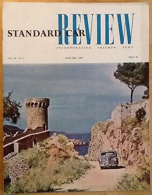 Standard Car Review Incorporating Triumph News, January 1953