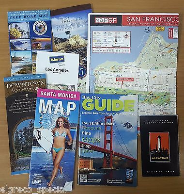 California Coplete Tourist Guide Pack & Road Map (Lot) (City Maps, Info, Guides)