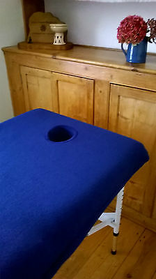 Massage Therapy Treatment Couch/table Fleece Cover + Facehole-Various Colours  W