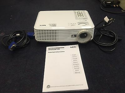 NEC - NP100 DLP Portable Projector, Manual, R/Control (Used)