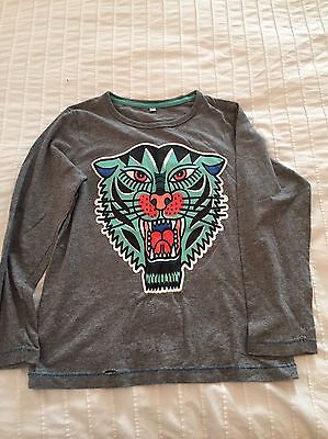 M And S Grey Boys Long-Sleeved Tee Size 6-7 Years