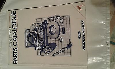 Ford Motorsport Competition  Parts Catalogue 1986