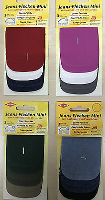 Kleiber Iron-On Jeans Repair Patches~Pack of 6~Choice of Colours