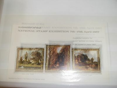 national stamp exhibition 1967 paintings miniature sheet